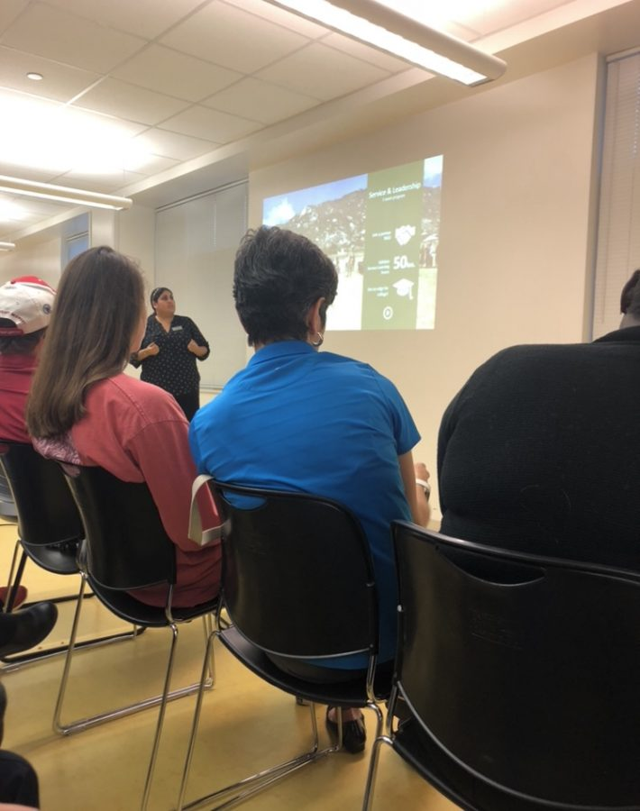 The CIEE gives a study abroad presentation.