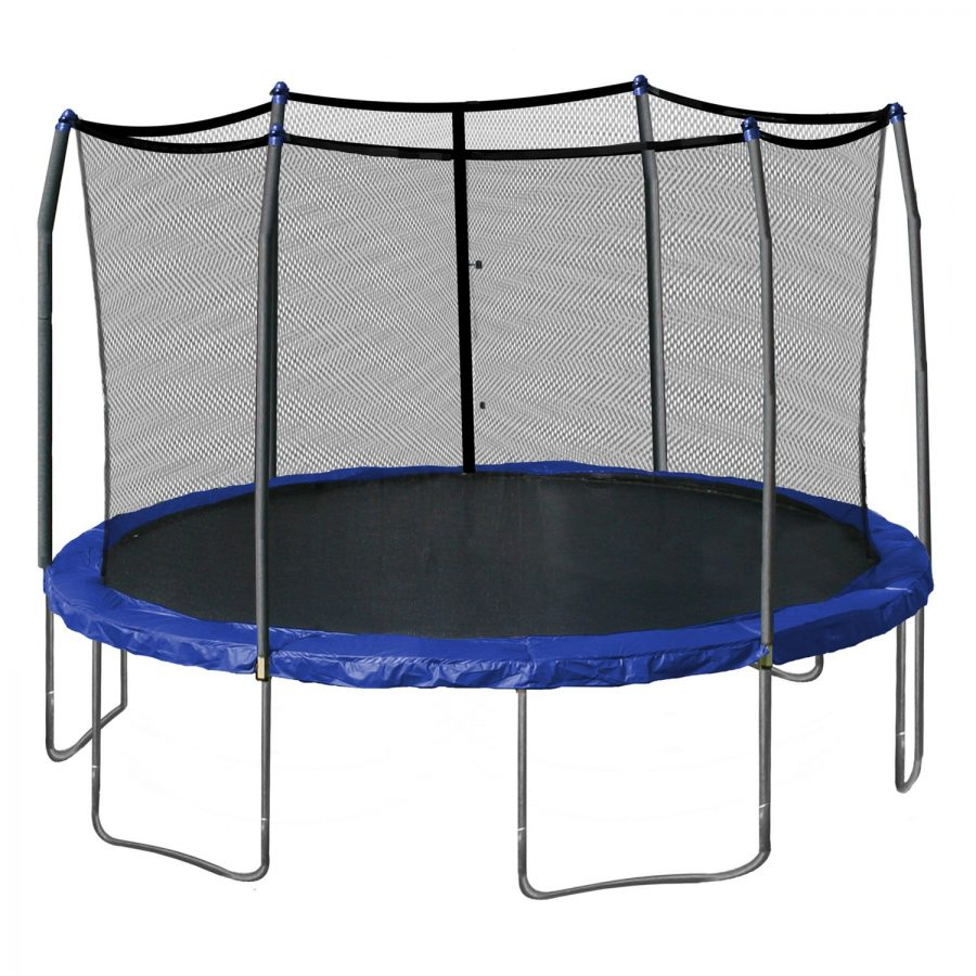 Trampoline mishap follows clumsy day