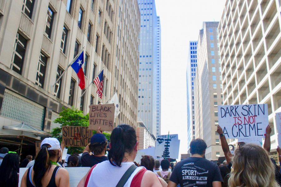 60%2C000+protestors+marched+through+downtown+Houston+on+June+2nd.+