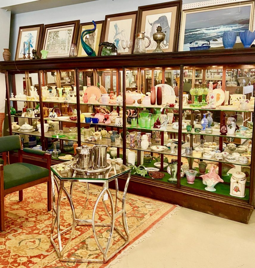 Antiques on display at the Almeda Antique Mall in Southwest Houston.