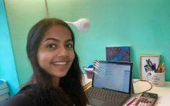Shravya Aparasu prepares for Diversify Your Narrative club presentation.