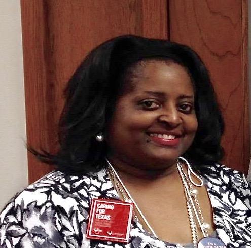 Nurse Chantini Thomas enjoys her time at a nursing convention.
