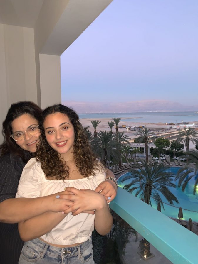Naama Ozeri and her mom, Efrat Hazan, enjoy their time at the Isrotel Resort near the Dead Sea.