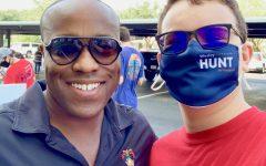 Wesley Hunt with campaign intern junior Levi Fox