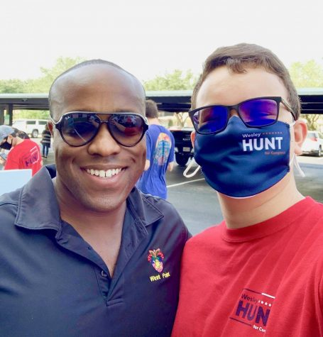 Wesley Hunt with campaign intern junior Levi Fox