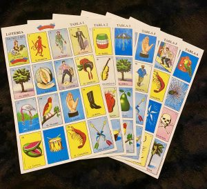 """Tablas"" that are used to play in Loteria"