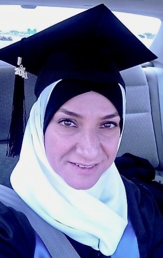 Samar Halabi celebrates her UH graduation in 2010.