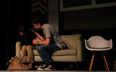Leah Harvell and Jonah Dove act out a scene in the UIL one act play. The cast's first competition is on March 6th.