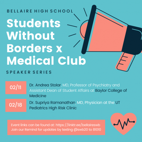 Members of Students Without Borders and the Medical Club hosted a second virtual event on Feb. 18, which featured Dr. Supriya Ramanathan, MD and physician at the UT Pediatrics High Risk Clinic.