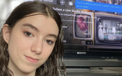 Sophomore Daniella Schneider watches WandaVision on DIsney+. Schneider enjoys the show's storyline and numerous Easter eggs that are dropped in the episodes.